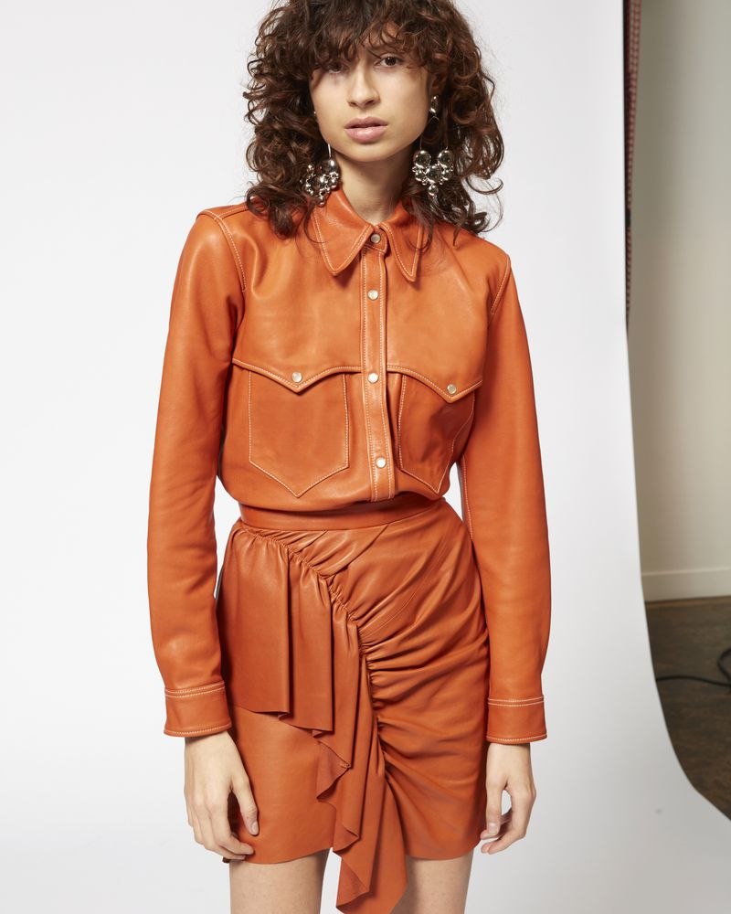 NILE leather shirt ISABEL MARANT
