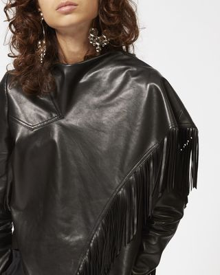 ISABEL MARANT TOP Woman NESTOR leather jacket r
