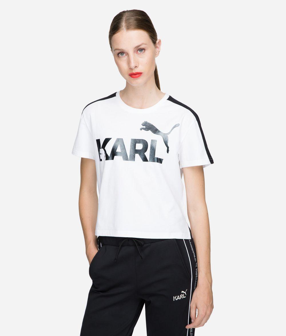 KARL LAGERFELD PUMA x KARL T-Shirt in Cropped-Passform T-Shirt Damen f
