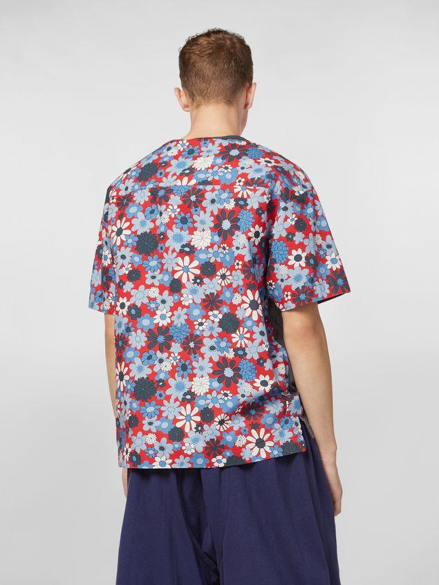 Marni T-shirt in cotton jersey Clarabella print Man