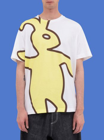 Marni T-shirt in jersey with macro Dance Bunny print Man