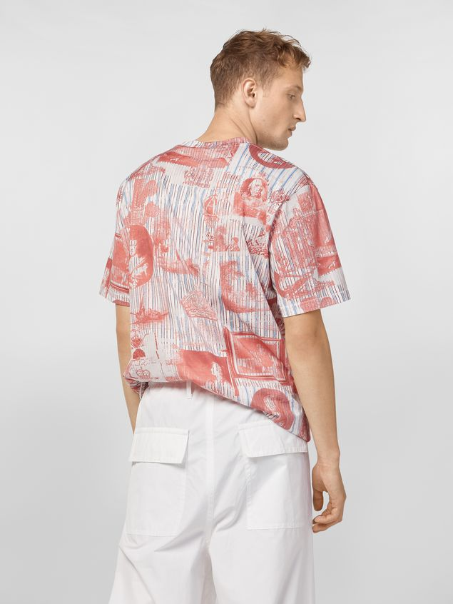 Marni T-shirt in lightweight cotton jersey Portrait print Man