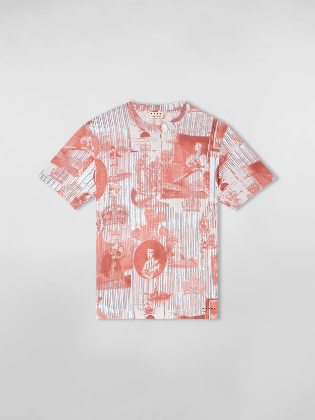 Marni T-shirt in lightweight cotton jersey Portrait print Man - 2