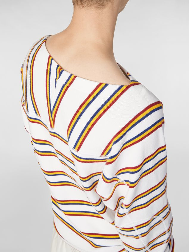 Marni T-shirt in ribbed yarn-dyed striped cotton Man - 4