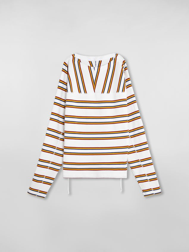 Marni T-shirt in ribbed yarn-dyed striped cotton Man - 2