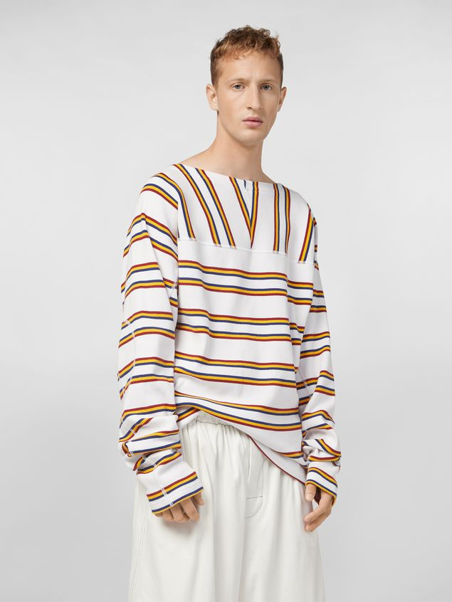 Marni T-shirt in ribbed yarn-dyed striped cotton Man - 1