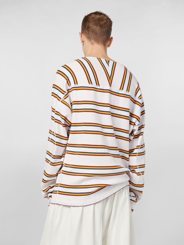 Marni T-shirt in ribbed yarn-dyed striped cotton Man - 3