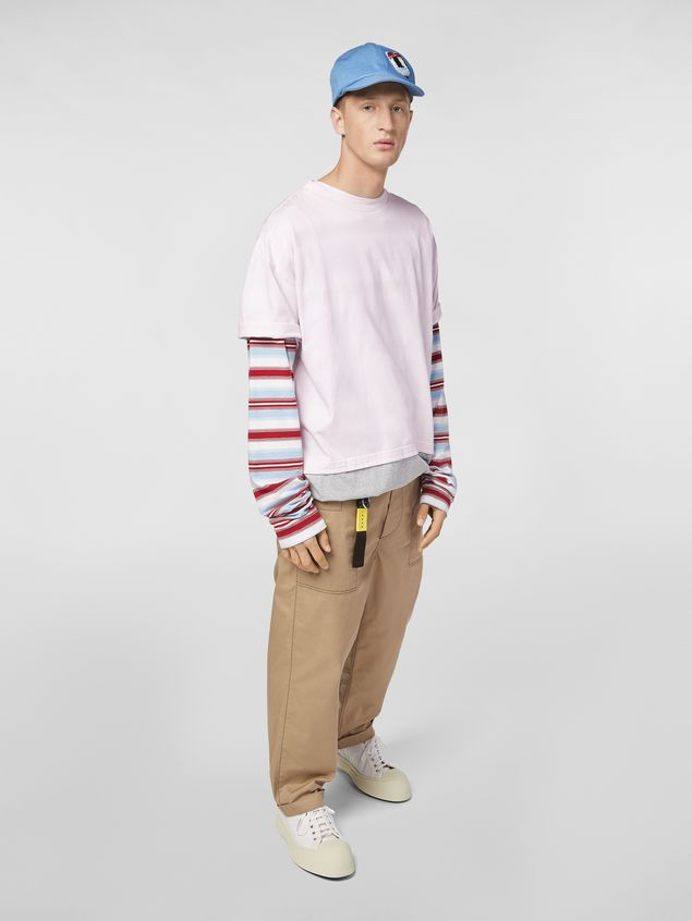 Marni T-shirt in cotton jersey pink and gray  Man - 5