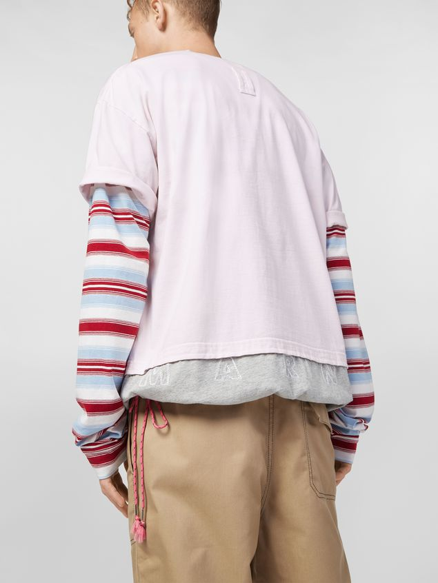 Marni T-shirt in cotton jersey pink and gray  Man - 4