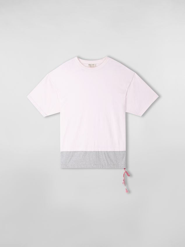 Marni T-shirt in cotton jersey pink and gray  Man - 2