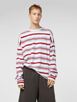 Marni T-shirt in striped cotton jersey Man
