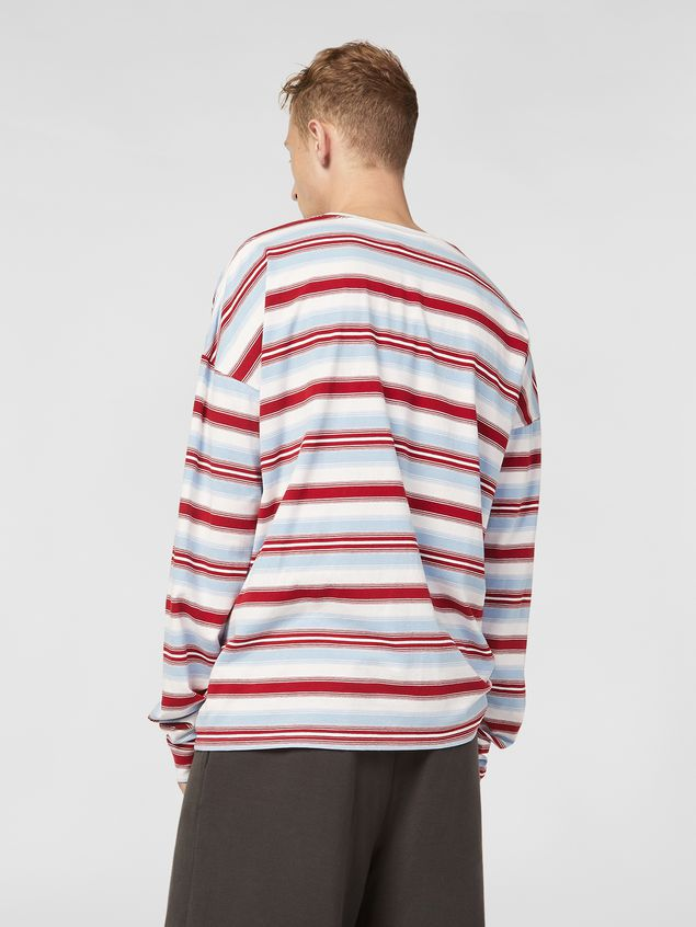 Marni T-shirt in striped cotton jersey Man