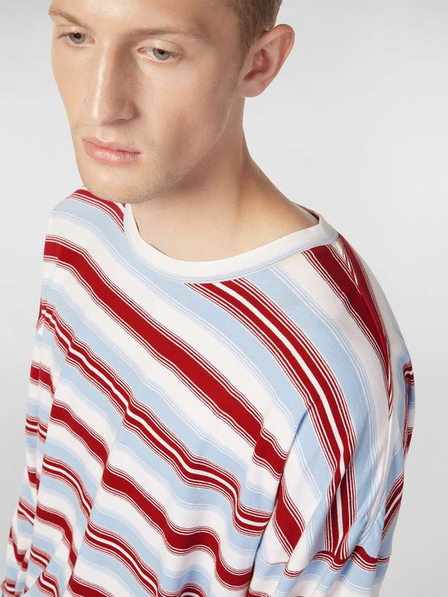 Marni T-shirt in striped cotton jersey Man - 4