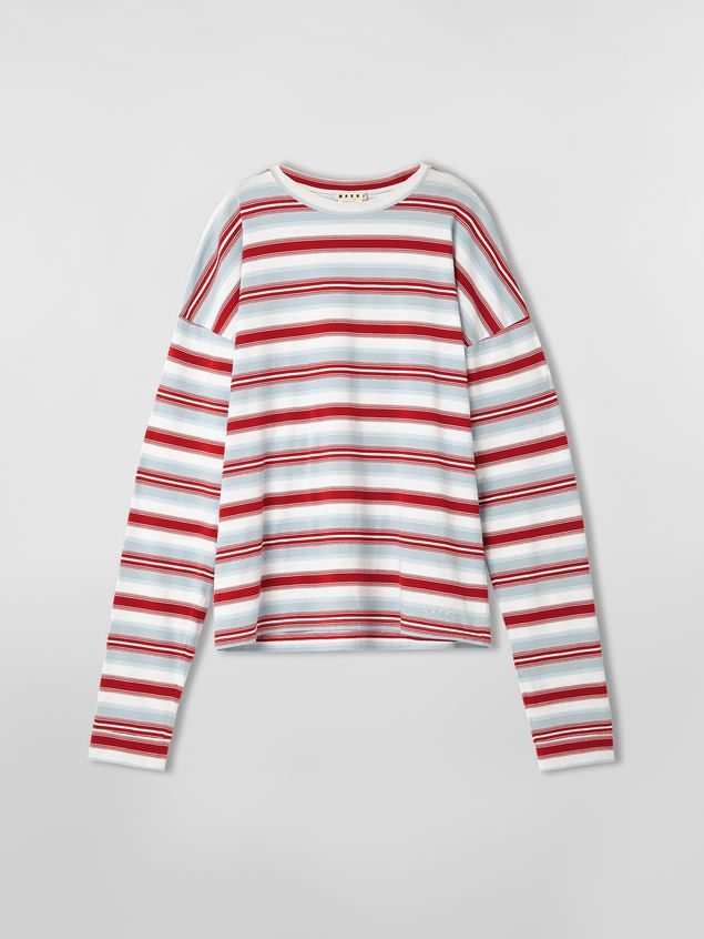 Marni T-shirt in striped cotton jersey Man - 2