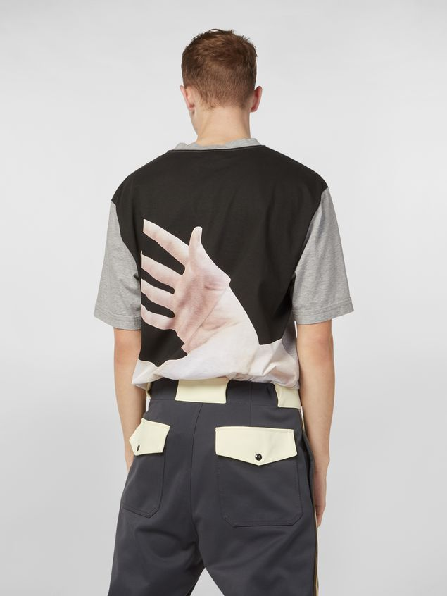 Marni T-shirt in cotton jersey with print by the artist Florian Hetz  Man