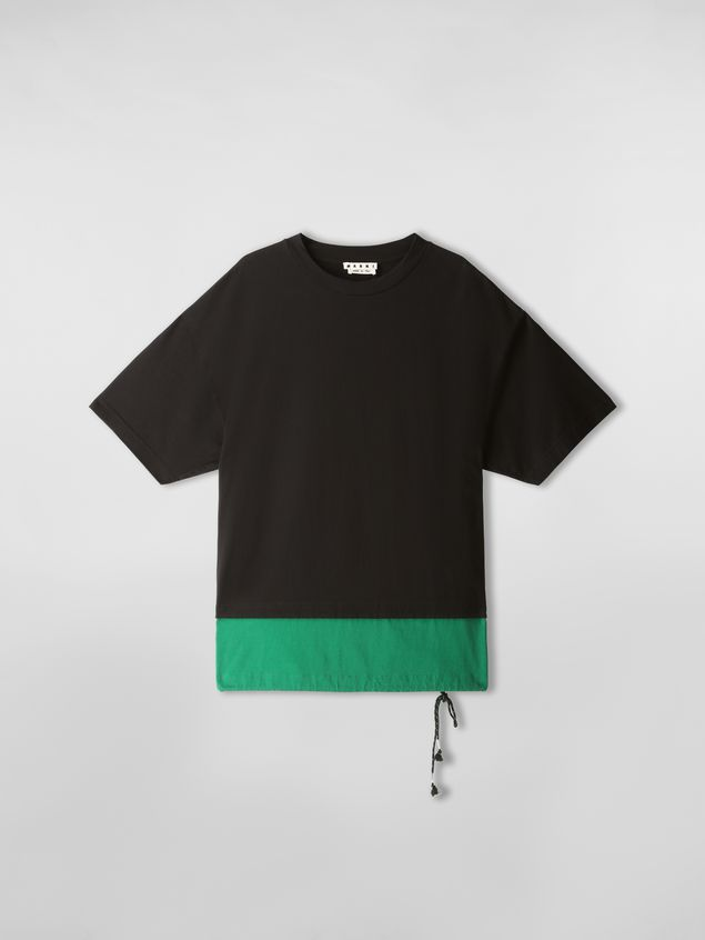 Marni T-shirt in cotton jersey black and green Man - 2