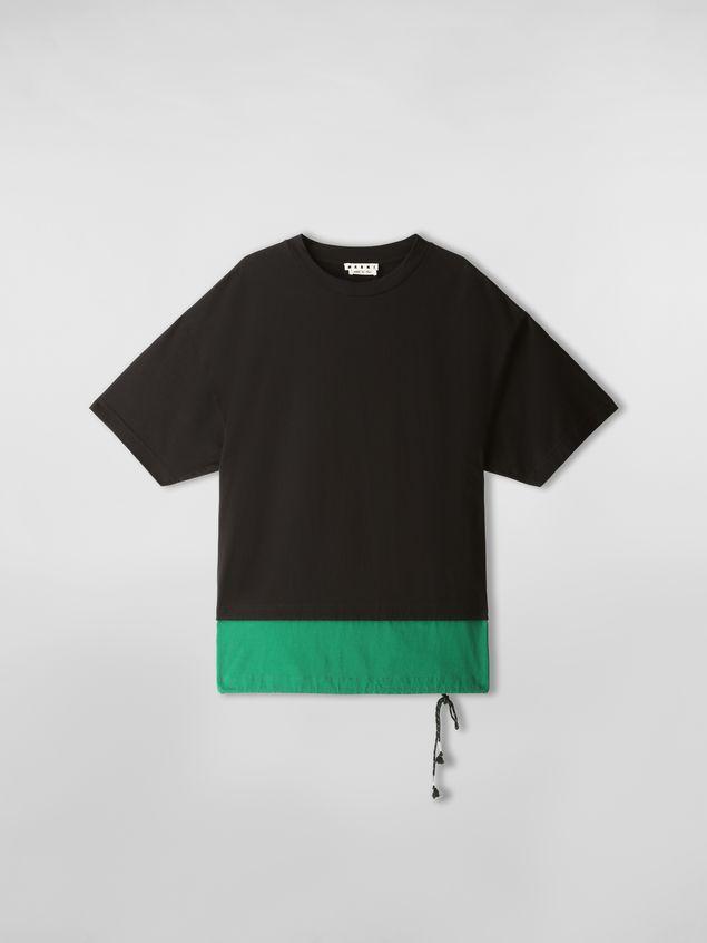 Marni T-Shirt aus Baumwoll-Jerseystoff in Schwarz und Grün Herren - 2