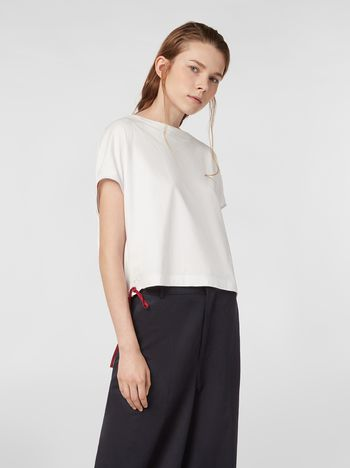 Marni T-shirt in jersey con coulisse Donna
