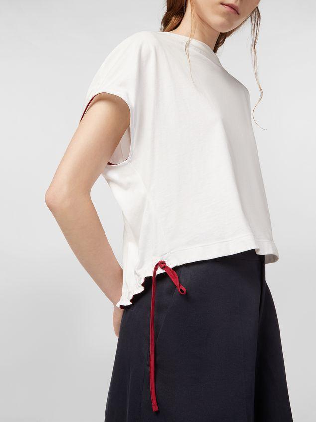 Marni Jersey T-shirt with drawstring Woman - 4