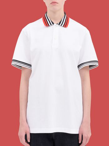 Marni Polo-shirt in striped cotton piqué Woman