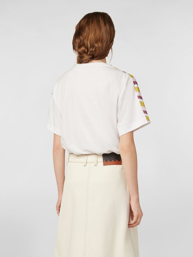 Marni Jersey T-shirt with Craven print Woman