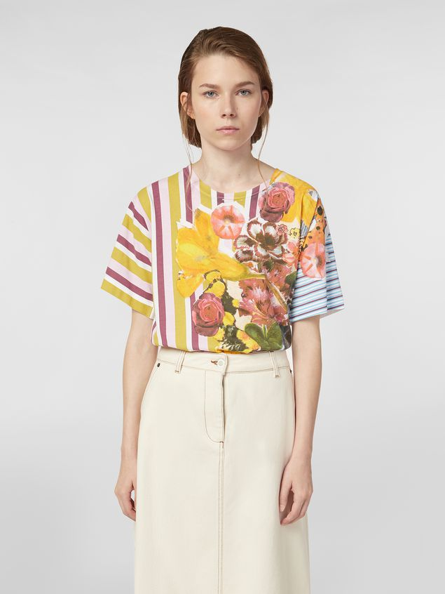 Marni Jersey T-shirt with Craven print Woman - 1