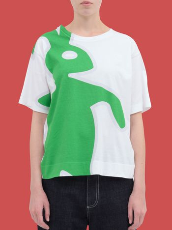 Marni T-shirt in cotton jersey with macro Dance Bunny print Woman