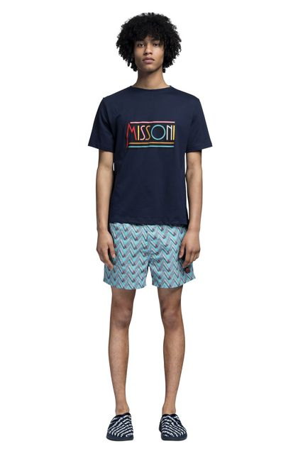MISSONI Beachwear T-Shirt Dark blue Man - Back