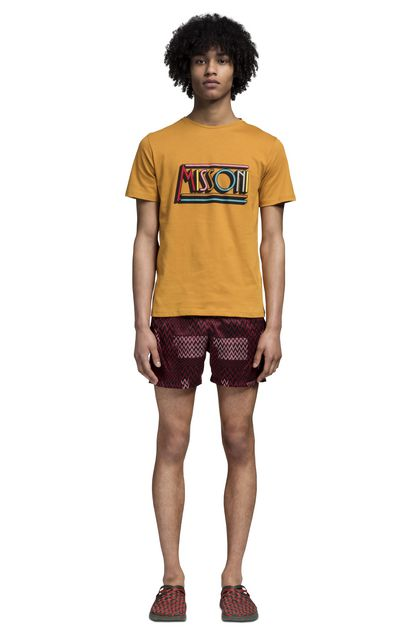 MISSONI Beachwear T-Shirt Ochre Man - Back