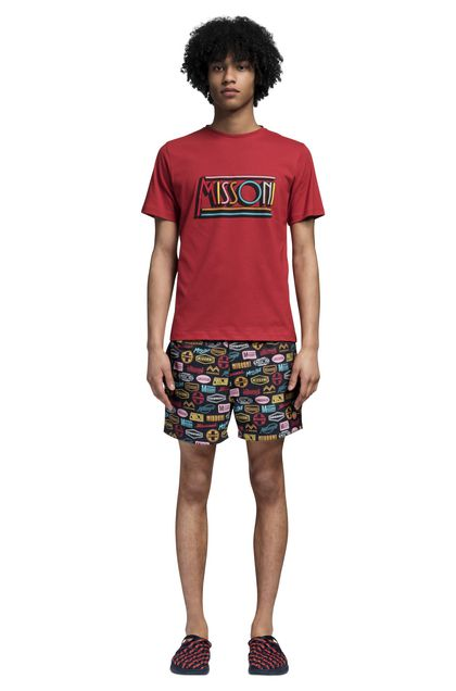 MISSONI Beachwear T-Shirt Red Man - Back