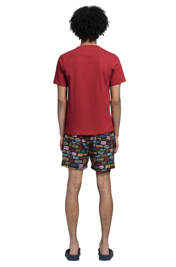 MISSONI T-shirt beachwear Uomo, Vista dal retro