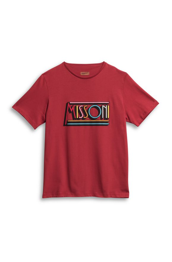 MISSONI Beachwear T-Shirt Red Man