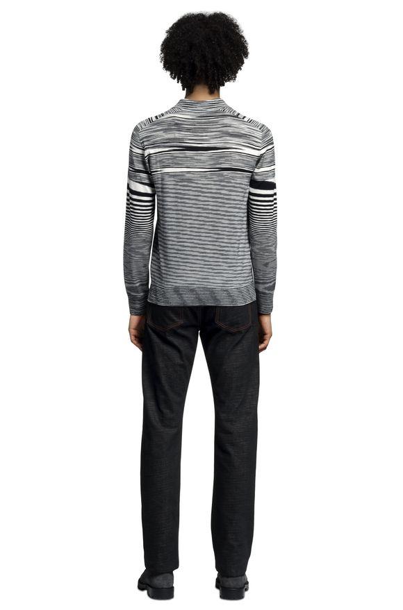 MISSONI Long-sleeved polo shirt Man, Rear view