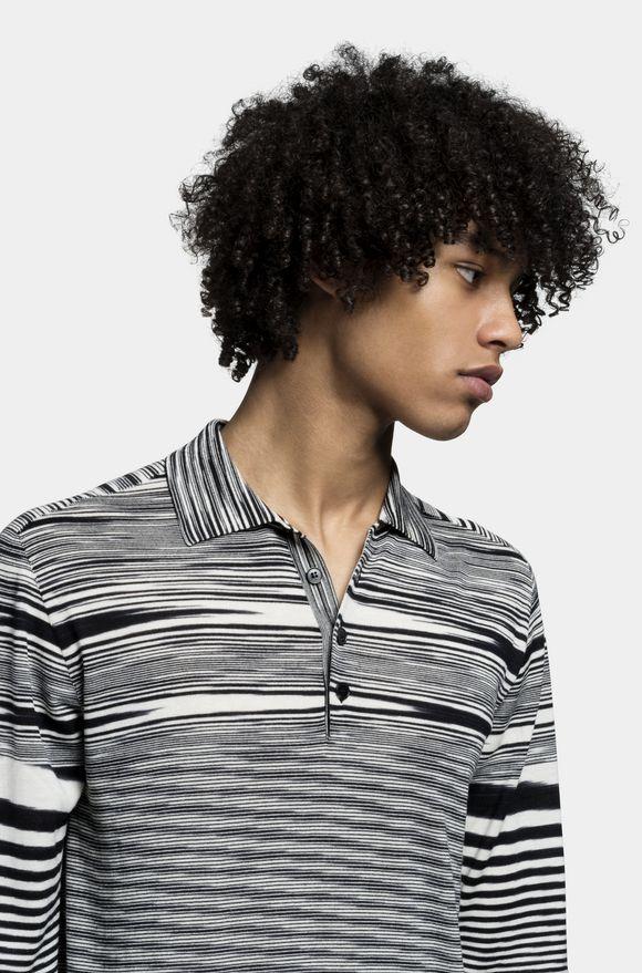 MISSONI Long-sleeved polo shirt Man, Detail