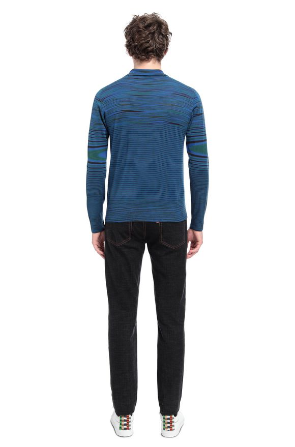 MISSONI Long-sleeved polo shirt Man, Rear view