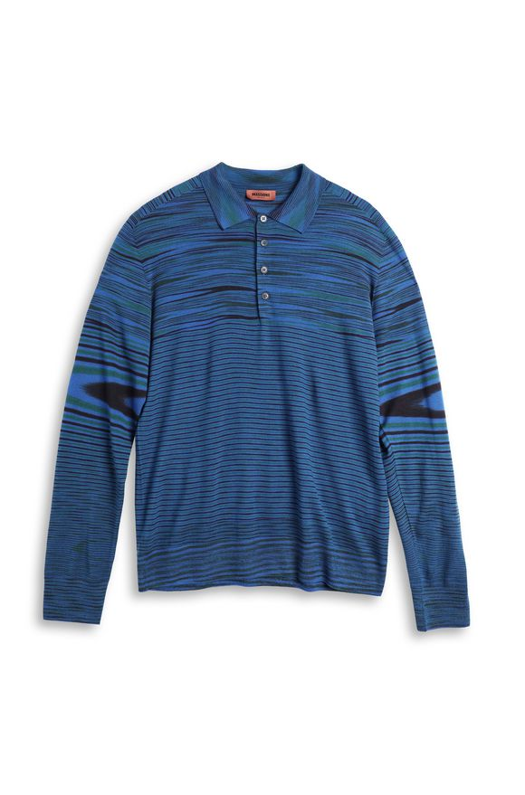 MISSONI Long-sleeved polo shirt Man, Product view without model