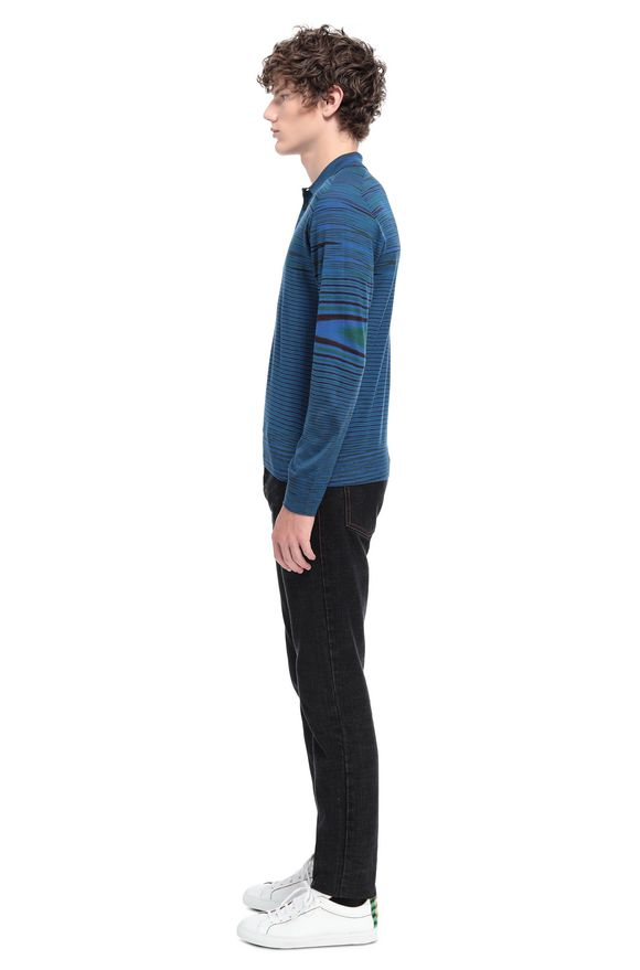 MISSONI Long-sleeved polo shirt Man, Side view