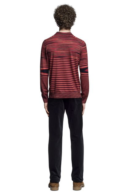 MISSONI Long-sleeved polo shirt Brick red Man - Front