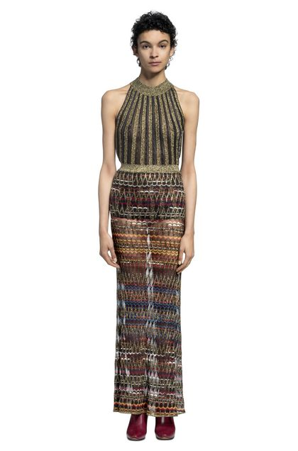 MISSONI Vest Dark brown Woman - Back