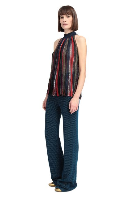 MISSONI Vest Dark blue Woman - Back
