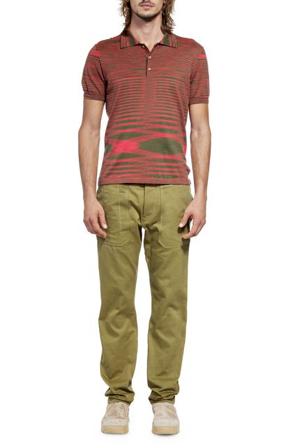 MISSONI Men's polo Military green Man - Back