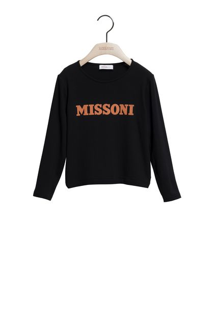 MISSONI KIDS T-shirt Nero Donna - Retro