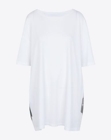 MAISON MARGIELA Short sleeve t-shirt Woman Trompe-l'œil' printed jersey T-shirt f