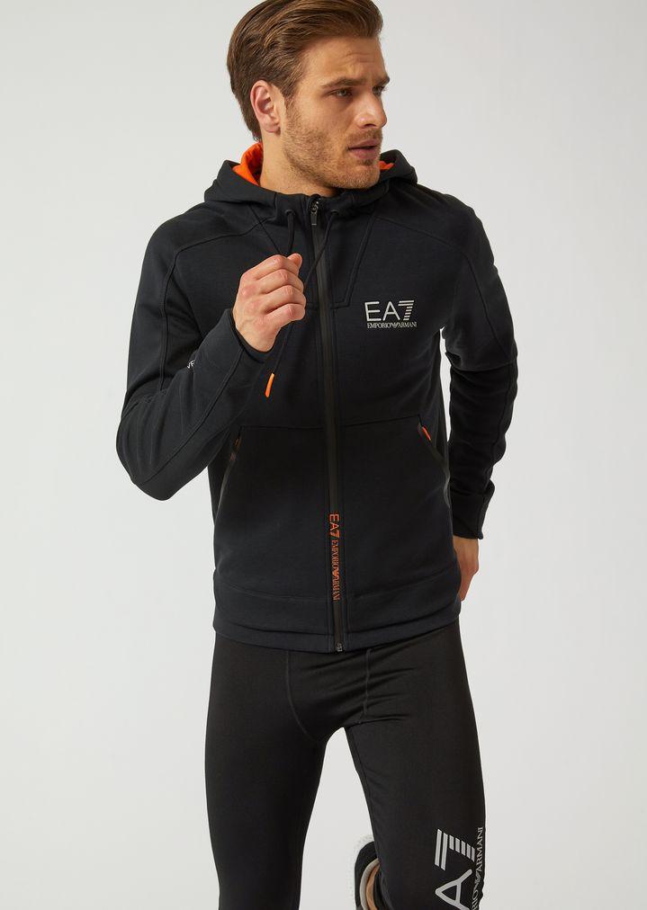 cbdfff0e30 Ventus 7 hooded sweatshirt with contrasting detailing | Man | Ea7