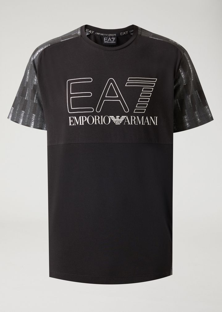 2ceda8b9eb Jersey T-shirt with maxi logo | Man | Ea7