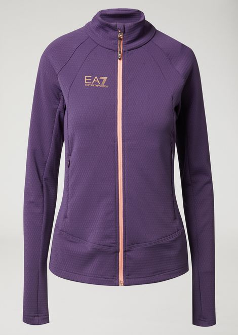 Full zip training sweatshirt in 210 g² stretch French terry