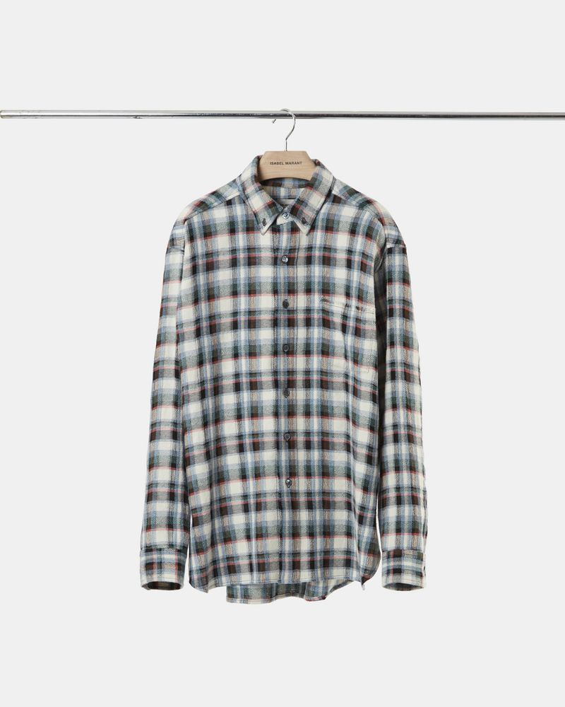 RIKERS plaid overshirt ISABEL MARANT
