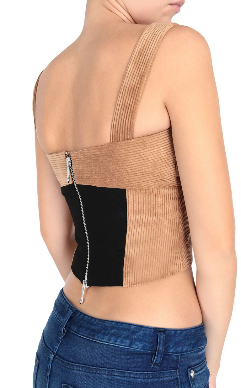 JUST CAVALLI Ribbed bustier Top Woman e