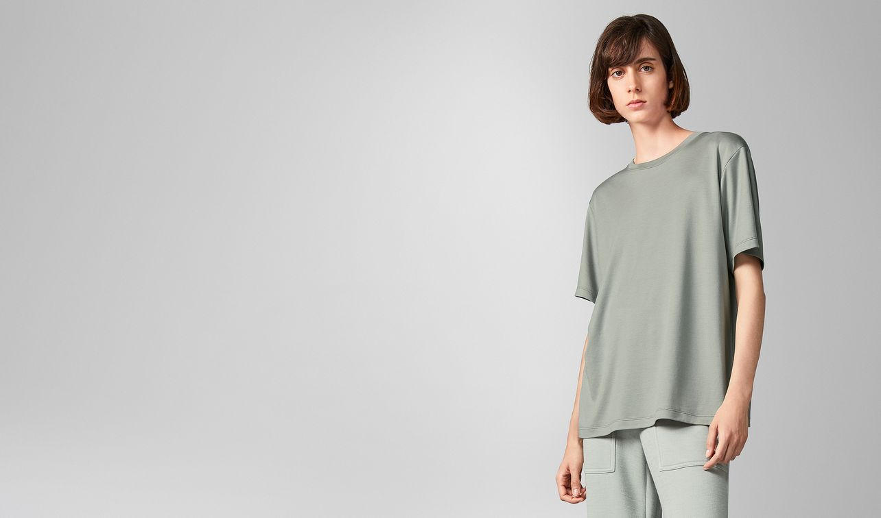 t-shirt in silk cotton  landing