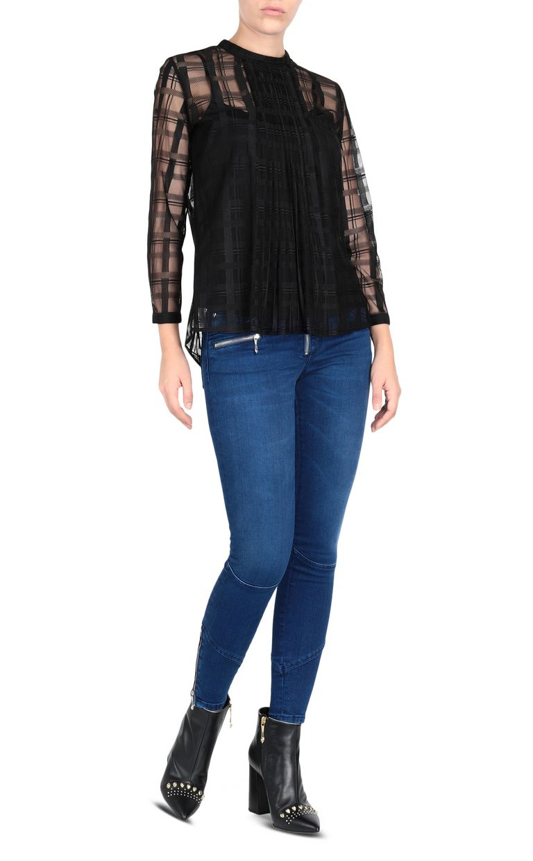 JUST CAVALLI Geometric-effect top Top Woman r